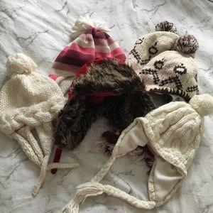 Bundle of toddler winter hats